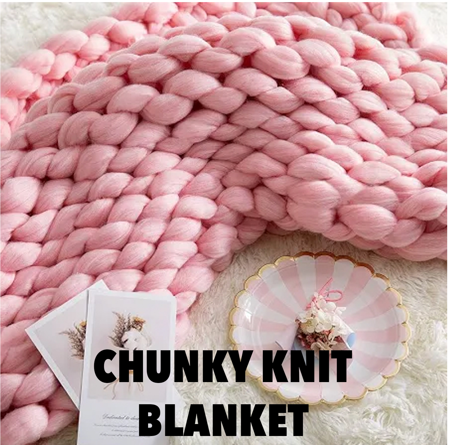 chunky knit blanket 2