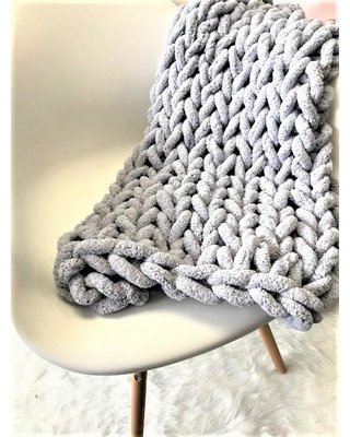 chunky knit blanket new knit