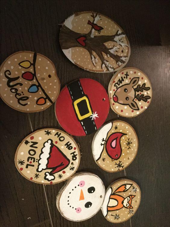 DEC wood ornaments
